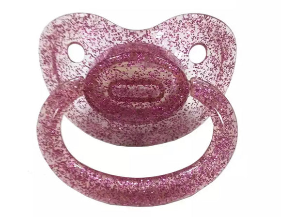Pink Glitter Adult Pacifier