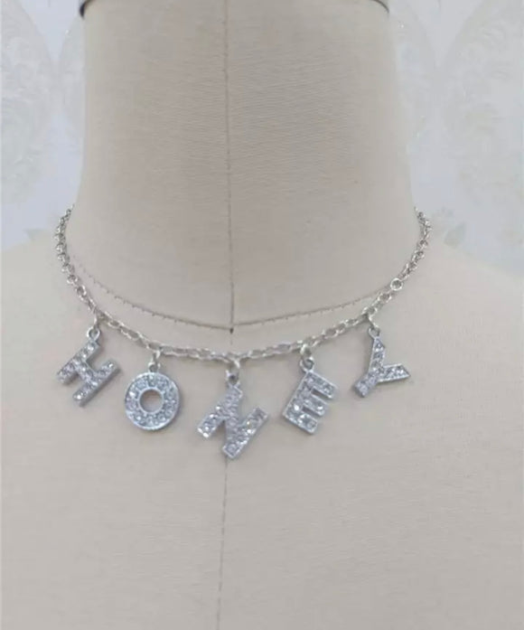 Honey Silver Plated Necklace