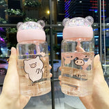 DDLGVERSE Piggy Glass Bottle