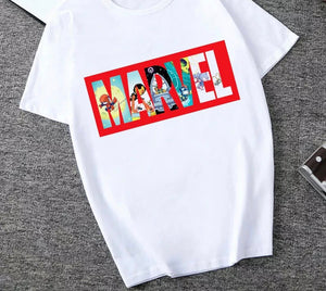 DDLGVERSE Slogan T-Shirt Marvel With Background Image