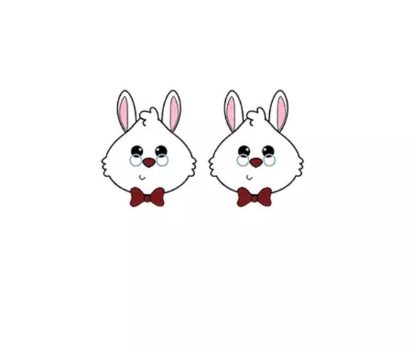 DDLGVERSE White Rabbit Stud Earrings