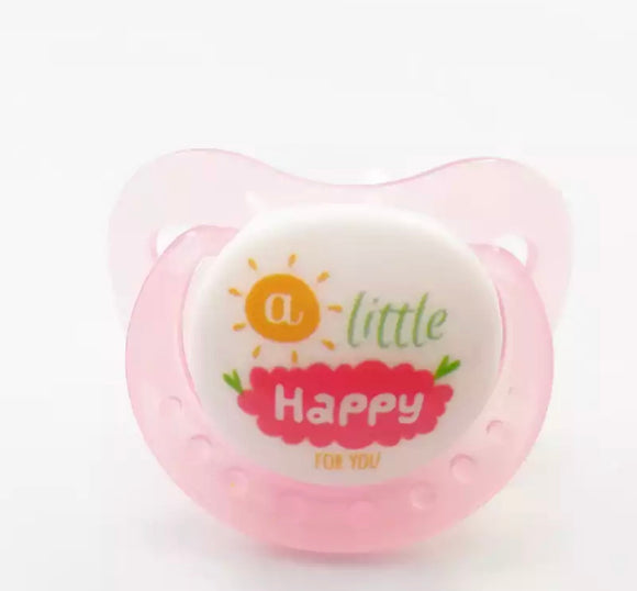 DDLGVERSE Adult Pacifier 'A little happy for you' in pink