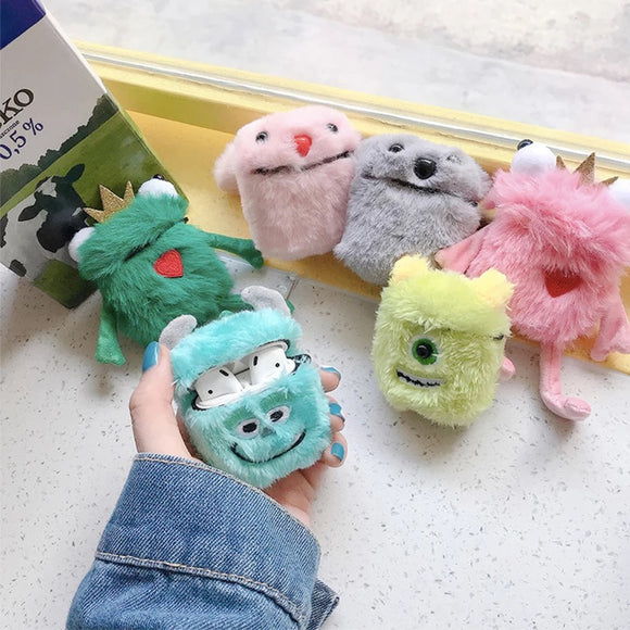 DDLGVERSE Fluffy Character AirPods Cases