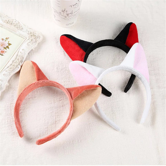 DDLGVERSE Plush Kitty Ears black, pink, white