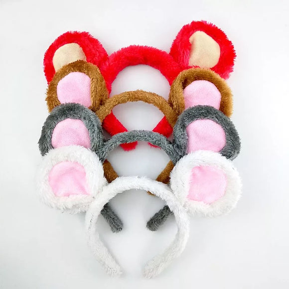 DDLGVERSE Mouse Headband Red, Brown, Grey, White