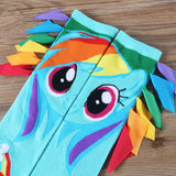 DDLGVERSE Rainbow Dash Socks Lined Up