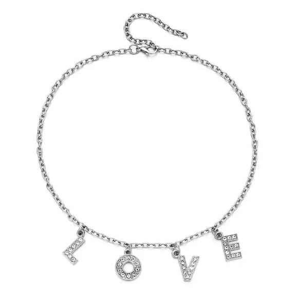 DDLGVERSE Love Silver Plated Necklace