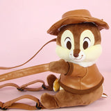 DDLGVERSE Plush Chipmunk Backpack Close Angle