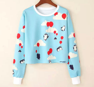 Penguins n Balloons Sweater