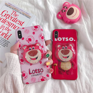DDLGVERSE Lotso iPhone Case Pale and Hot Pink