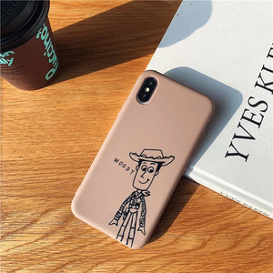 DDLGVERSE Woody and Buzz Sketch iPhone Cases