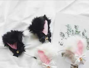 DDLGVERSE Luxury Ears With Bells Black Close Up with White