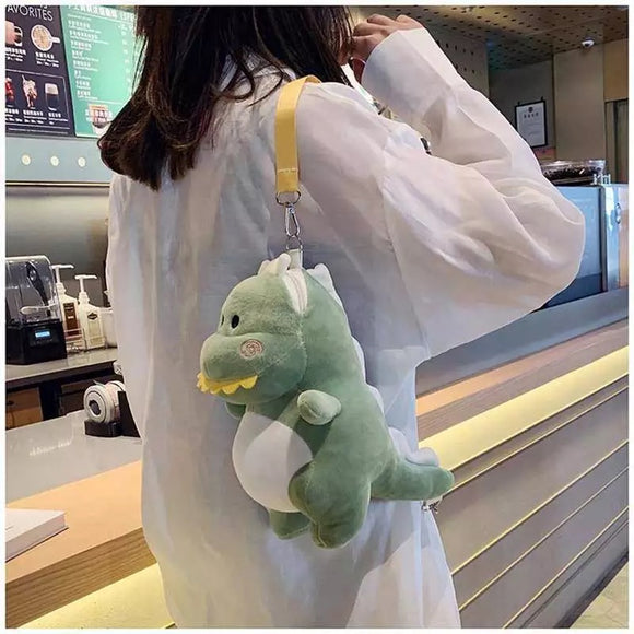 DDLGVERSE Plush Dinosaur Bag Green