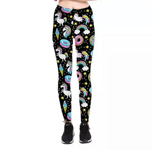 DDLGVERSE Unicorn Donut Leggings