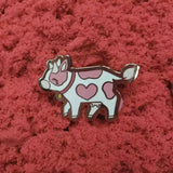 Love Heart Cow Pin