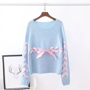 Knitted Ribbon Sweater