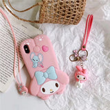 DDLGVERSE My Melody and Cinnamoroll iPhone Cases My Melody