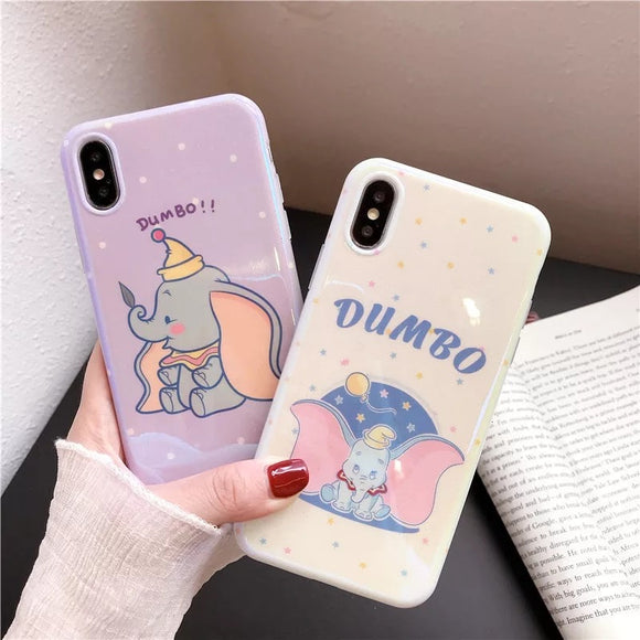 DDLGVERSE Dumbo iPhone Case Purple and Pink