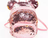 DDLGVERSE Mini Sequin Mouse Backpack Pink