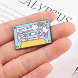 DDLGVERSE 90's Cassette Tape Pin In Hand
