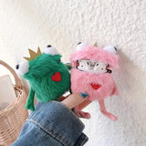 DDLGVERSE Character Fluffy AirPod Cases frogs