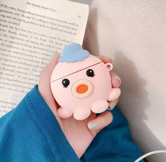 DDLGVERSE Squish The Octopus AirPod Case Pink
