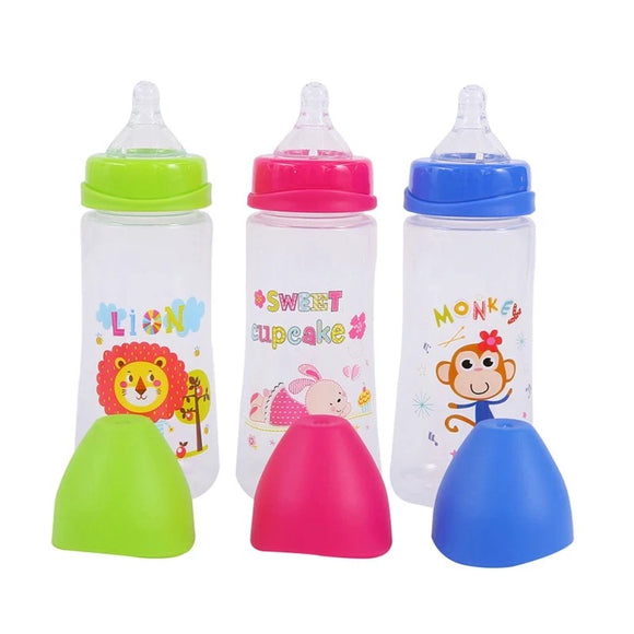 DDLGVERSE Animal Bottles Green Lion (left), Pink Bunny (Centre), Blue Monkey (right)