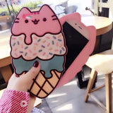 DDLGVERSE Pusheen Ice Cream iPhone Case Front and RearView