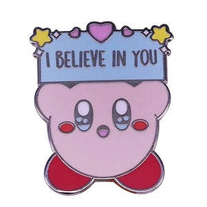 Kirby Believe Pin