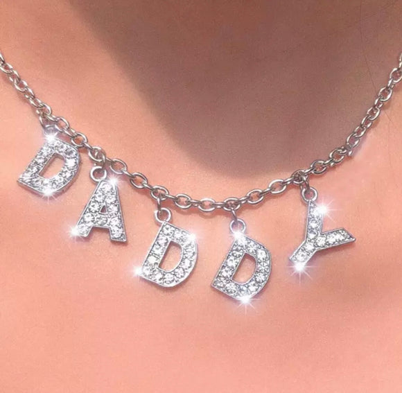 DDLGVERSE Daddy Silver Plated Necklace