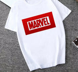 DDLGVERSE Slogan T-Shirt Marvel White and Red Block Writing