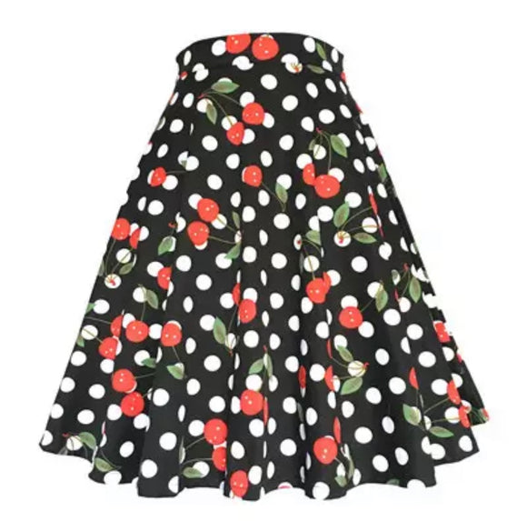 Polka Dot Cherry Skirt