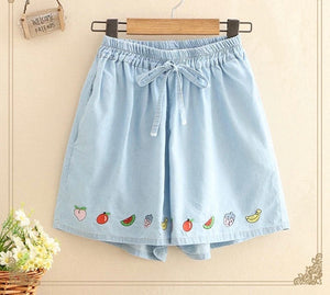 Fruit Hem Shorts