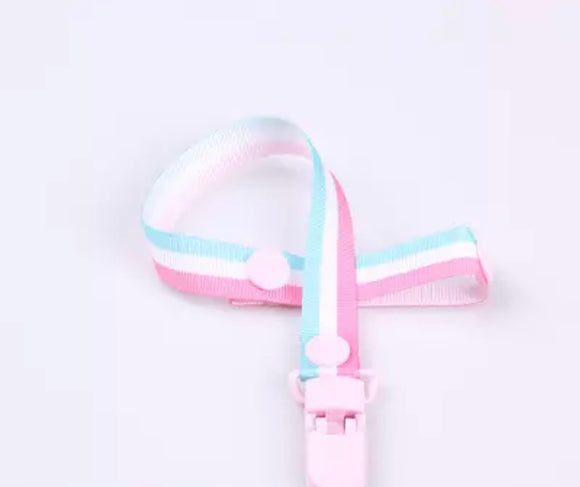 Pastel Stripes Pacifier Clip