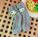 Googly Eyes Fuzzy Socks