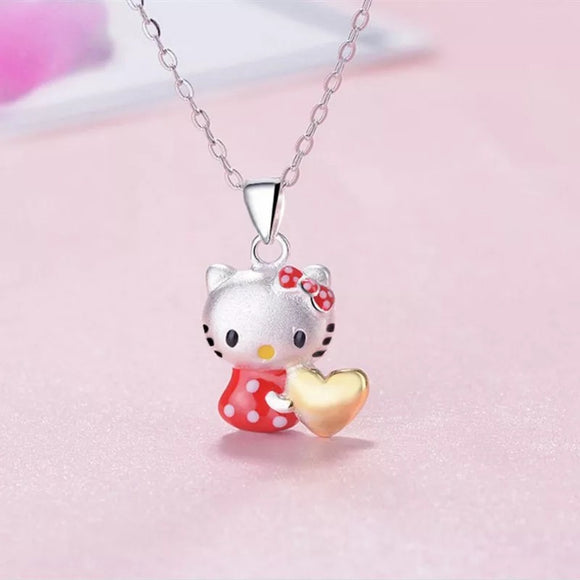 DDLGVERSE Hello Kitty Silver Plated Character Necklace Pendant