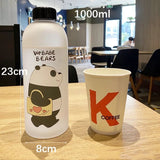 We Bare Bears Straw Bottle