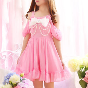 Satin Pearl Princess Dress