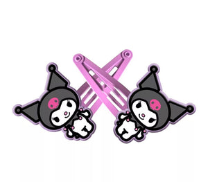 Kuromi Hair Slides