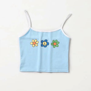 Hippy Flower Cropped Vest