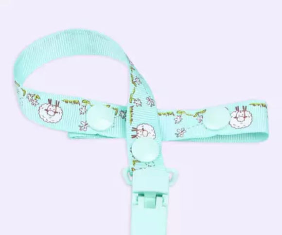 Mint Sheep Pacifier Clip