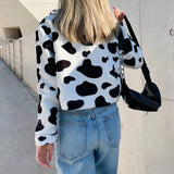 Cow Print Teddy Jacket