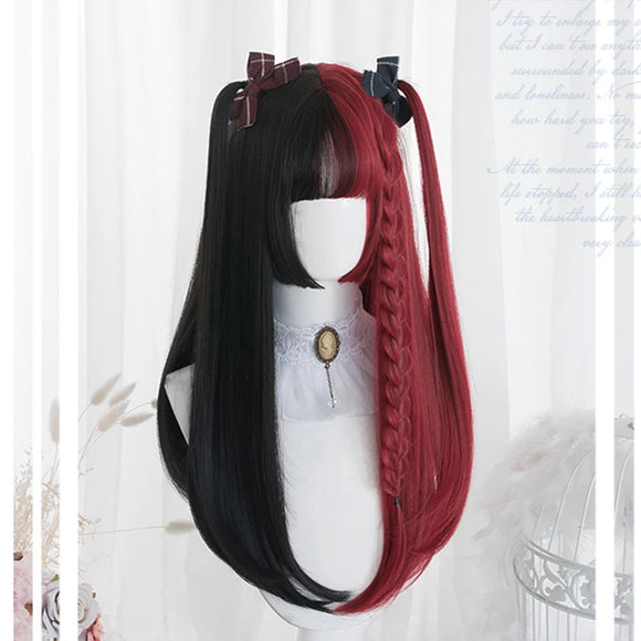 DDLGVERSE Red & Black Lolita Wig