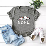 DDLGVERSE Nope Unicorn T-Shirt Dark Grey