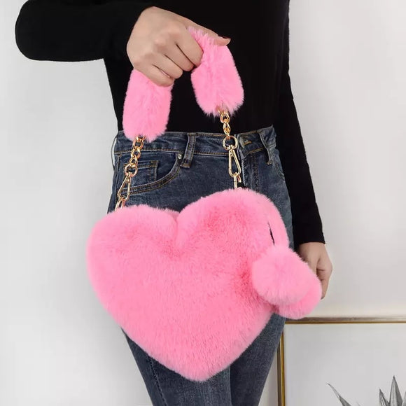 Plush Heart Bag
