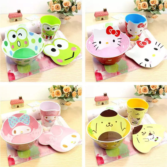 Sanrio Character 3pcs Dinner Set