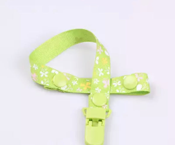 Green Butterfly Pacifier Clip