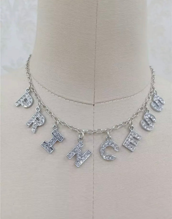 DDLGVERSE Princess Silver Plated Necklace