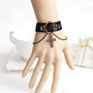 DDLGVERSE Gothic Inspired Cuff in Models Hand