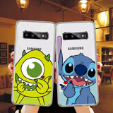 DDLGVERSE Disney Clear Samsung Case Mike and Stitch